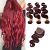 Body Wave Burgundy Virgin Hair Индийские человеческие волосы Virgin Прямое красное вино 99J Прямые индийские волосы 3 Связки с закрытием колено трубы grand line d90 60° красное вино металлическое