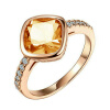 Yoursfs@ Gorgerous Square Big Red Crystal Rings For Women 18 K Rose Gold Plated Rhinestone Rings 3 Colors Best Fashion Jewelry Siz red crystal