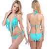 Женщины Sexy Print Bikini Sports Boxer Crop Top Купальники Купальники Beachwear Купальный костюм купальники