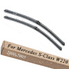 Wiper Blades for Mercedes Benz S-Class W220 Saloon 27&27 Fit Side Pin Arms 2000 2001 2002 2003 2004 2005 car accessory steel exhaust cover outputs tail frame trim for mercedes benz s class w222 coupe s class amg auto parts 2010 2017