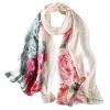летом 2017 года новая мода шелковый шарф пляж управление Paty шелковый шарф чистый шелк collarette женщинам подарки винтаж чернила павлово посадский шелк