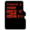 Кингстон (Kingston) 16GB UHS-I У3 Class10 TF (Micro SD) высокоскоростная карта памяти (скорость чтения 90 Мб / с записью 80Mb / с) sandisk 16gb скорость чтения 80mb s высокоскоростная sdhc карта памяти uhs i class10 sd карта
