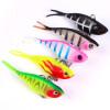1PC Soft Fishing Lures 6cm-2.36 /15g-0.53oz Мягкая свинцовая приманка 8 # High Carbon Hook 5 цветов Кремниевые воблеры Рыбалка