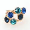 Yoursfs @ Luxury Fashion Bule Crystal Rings 18 k Позолоченные модные 6 бриллиантовых колец для женской юбилейной банкетной одежды Brilliant ewelry