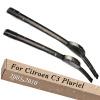 Wiper Blades for Citroen C3 Pluriel 22&18 Fit Hook Arms 2003 2004 2005 2006 2007 2008 2009 2010 коврик в багажник citroen c3 v2 2010 &gt хб полиуретан