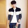Закон Kun мужчин кардиган куртки корейской версии простой стенд воротник свитера куртки мужской 215-MK02 темно-серый XL