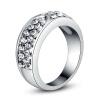Yoursfs @ Модные круглые кольца для женщин Цинковый сплав Многоцветный кристалл Свадебные обручальные кольца R065 кольца
