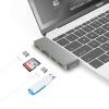 цена на BIAZE типа с адаптером USB-концентратор с преобразователем концентратор применять новые MacBook Pro аксессуары для ноутбуков новые компьютеры Apple Mac R8 Deep Space Gray
