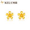 Kelan 18K желтое золото серьги K золотые серьги моды диких женские цветки KLSW031684