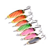 1PC Top Fishing Fishing Lures 7 цветов рыболовные снасти 3-5-7,5 г металла Приманка рыбалка приманки 6-8-10 # высокой углеродистой крючок ложка приманки one sheet endearing colorful rose and peony pattern water transfer printing nail sticker