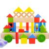 Троянская мудрость 100 Красочные алфавит блоки детские развивающие игрушки деревянные развивающие игрушки барабаны подарки