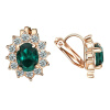 Yoursfs@ Blue\ Red\ Violet\ Green Crystal Women Clip On Earrings 18K Rose Gold Plated Fashion Jewelry Unique Cocktail CZ Earrings yoursfs 18k rose gold plated tiny huggies hoop earrings dense cz huggie earrings for women crystaldust ear jewelry gift