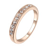 Yoursfs @ Eternity Women Crystal 18k Gold Plated Bridal Promise Ring