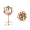 Yoursfs@ Charms Rhinestone Rose Stud Earrings 18k Gold Plated Fashion CZ Jewelry Delicate Crystal Rose Women Stud Earrings for Wom yoursfs dangle earrings with long chain austria crystal jewelry gift 18k rose gold plated