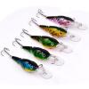 1PCS Crank Fishing Lure 2 Разделы Басовые приманки 9cm-3.54 /10.55g-0.37oz с № 6 Крючки Рыбалка Снасти