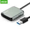 Green (llano) устройство для чтения карт памяти многофункциональное многобуквенное устройство чтения карт памяти USB3.0 высокоскоростной считыватель карт для карт памяти SD / TF / CF / MS 0,5 м металлический серый устройства чтения карт памяти