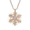 Yoursfs@18K Rose/White Gold Plated Snowflake Necklace For Girls Crystal Snowflake Pendant Necklace for Women Sparkle Party Jewelry yoursfs® cupid arrow white gold plated zircon pendant necklace