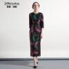 DF · RS  Аристократический стиль женского интеллектуального жаккарда с длинными рукавами, юбка из слоновой одежды samsung rs 552 nruasl
