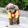Teddy Bear домашнее животное домашнее животное собака плащ собака одежда Тедди Бишон одежды собаки любимчика одежды пурпурного No. 5 тедди vip по электронной почте четыре ноги собака плащи пончо водонепроницаемая одежда осень зима средние и большие собаки одежды