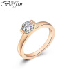 BAFFIN Rose Gold Plated Crystal Wedding Rings Cubic Zirconia For Women Party Jewelry Accessories Girls Gift ювелирный набор jimore 2015 whol women fashion jewelry