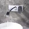HIDEEP настенный ванной кран квадратных латунная штульпы кран цепочка латунная