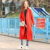 Fairwhale 2017 осень новый длинное пальто женщин женское пальто сплошной цвет простой красный S 426 316 031 002 пальто katerina bleska