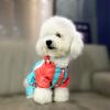 Teddy Bear домашнее животное домашнее животное собака плащ собака одежда Тедди Бишон одежды собаки одежды любимчика светло-голубой № 4 камуфляж жилет летней одежды тедди бишон померанский собака кошка животное одежда s