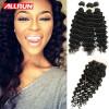 Фото Brazilian Deep Wave With Closure 3 Bundles With Closure Deep Wave Brazilian Hair With Closure Brazilian Deep Curly Virgin Hair