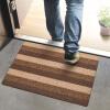 FOOJO проскальзывания коврики моющиеся коврики для вытирания ног втирать коврик 80 * 50см цвет кофе полоса богатый рейтинг foojo кухня моющийся нескользящие коврики для вытирания ног 45 120см черный фон с синими цветами