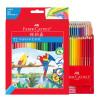 Фабер (Faber-Castell) растворимый в воде Цветной карандаш Цветной карандаш 72 цвет раскраски раскраски мелки рисунок перо набор 11 набор бархатные раскраски черный фон вв2129