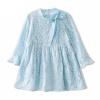 Fuluo чо Flordeer французская детская одежда девушки платье детей принцесса юбка большой девственный кружева платье синий юбка F73038 110 ai fuluo iflow