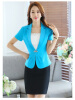 Summer Elegant Business Formal Office Blaser Women Short-Sleeve Blazer Crystal Button Ladies Jackets Sky Blue Black Rose Navy Bl frank buytendijk dealing with dilemmas where business analytics fall short