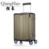 QiangHao 202429 inch 100% pure Aluminum Alloy pull rod suitcase TSA customs lock silent universal wheel hard metal luggage