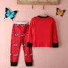 дети, девочка детей футболку топ - + штаны пижамы набор одежды sleepwear наряд висячие штаны для детей