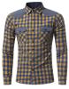 Модные мужские рубашки с длинными рукавами Топы Классические плед рубашки Рубашки мужские рубашки Slim Men Shirt XXXL рубашки