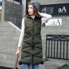 Зимний жилет Женщины 2017 Новый жилет моды женской армии Зеленый Тонкий жилеты с капюшоном Хлопок-мягкий теплый длинный жилет Женщ