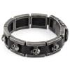 2017 Новинка кожаный браслет мужской браслет из нержавеющей стали высокое качество черепа браслеты для мужчин