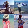 Женские солнцезащитные шарфы платки пляжное полотенце двойное использование морские таможенные шарфы для кондиционирования воздуха