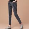 Город плюс CIYPLUS 2017 новые женские зимние дикие свободные шаровары толстые вельветовые брюки CWKX179177 темно-серый M прямые широкие женские зимние брюки