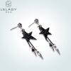 Lelady Crystal earring Choker Eardrop Long ear line lelady crystal earring swarovski element earring for women