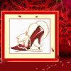 шитье DIY DMC вышивка крестом наборы для вышивания комплекты кошка и туфли на высоких каблуках прямых производител шитье diy dmc вышивка крестом наборы для вышивания комплекты кошка и собака прямых производителей