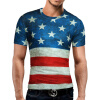 Male 2017 Brand Short Sleeve Novelty Print 3D T Shirt O-Neck Slim Men T-Shirt Tops Fashion Mens Tee Shirt T Shirts geo print short sleeve t shirt