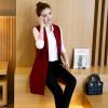 Корейский модный карманный вырез воротник Женский жилет длинный тонкий женский жилет весна женская без рукавов кардиган жилет паль