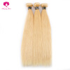 Amazing Star Hair Brazilian Straight Hair 3 Bundles Pre-Colored Hair Weaves 613 Remy Human Hair Weave Extensions Soft 1g s 100g human remy hair 8 light brown straight custom capsule keratin stick i tip fusion full human hair extensions
