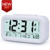 Large Digital Alarm Clock LCD Student Bedroom Electronic Clock Snooze Sensor Kids Table Clock School Product Night Light 2 Alarm ey products e my creative wood table clock khaki 1 x aa