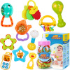 Niuqi детские игрушки, детская погремушки большой укус пластиковые бутылки установлены 13 комплектов