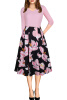 2017 Women Autumn Flora Printed Dress With Pocket New Arrival