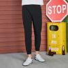 Semir (Semir) брюки мужские 2017 осенние мужчин прямые брюки беговые брюки спортивные брюки брюки ноги луч 32 черный прилив 17316271001