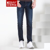 Красные бобы Hodo мужские джинсы мужские удобные деловые случайные Slim мужские джинсы B5 blue 40