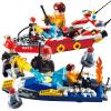 Новые Гуди новые музыкальные блоки огонь лодки пожара серии GD9213 детские строительные блоки собраны игрушки игрушка мальчика строительные блоки собраны головоломки